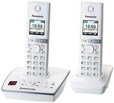 Panasonic KX-TG8062GW Telefon schnurlos m. Anrufbeantworter (2 Mobilteile) weiss