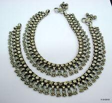 antique vintage jewellery tribal old silver anklet feet bracelet ankle chain