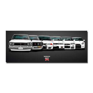 Nissan Vintage Skyline Super Car Racing Car Silk Canvas Poster 13x34 24x62''