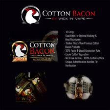 Coton cotton bacon PRIME pour RBA, dripper, etc  wick'n'vape