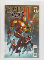 Civil War II #0 VF/NM 9.0 Marvel Comics 2016 Hastings Variant Rob Liefeld