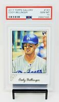2017 Topps Gallery RC Dodgers CODY BELLINGER Rookie Card PSA 10 GEM MINT Pop 183