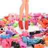 15/30/60 pares de zapatos de muñeca sandalias de tacón de varios estilosK