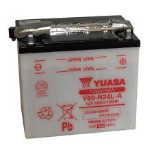 Batterie Moto Yuasa Y60-N24L-A 12v 28Ah 241A 184X124X175MM ACIDE OFFERT