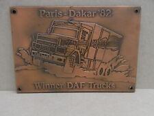 Plaquette Brons Winner Daf trucks Paris-Dakar'82