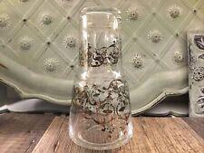 Vintage Elegant Gold Design Clear Glass Bedside Water Carafe Set