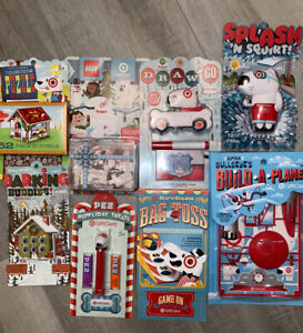 Lot of 8 Retired Target Toy Gift Card Set 2011/12. Lego,pez,build A Plane Etc.