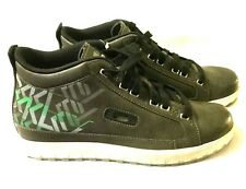 NEW MEN'S OAKLEY SHOES - Rare Dark Grey Leather FOUR BARREL High Tops ~ Size 9
