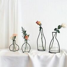 Retro Table Flowers Vase Metal Plant Holder Modern Solid Home Decor Nordic Style