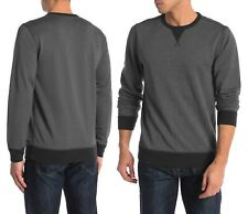 FAHERTY French Terry Crew Neck Sweatshirt in Washed Black Sz.XL NWT $88