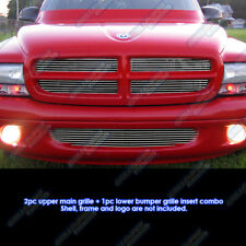 Fits 1997-2004 Dodge Dakota /1998-2003 Durango Billet Grille Grill Insert Combo