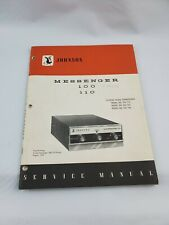 Johnson Messenger Model 100 110 Citizens transceiver Radio Service Manual 1975
