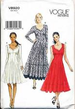 VOGUE SEWING PATTERN 8920 MISSES SZ 16-26 FLARED KNIT DRESS & MAXI - PLUS SIZES