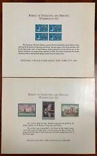 United States BEP B 1 & 4 Souvenir Cards 1969 Mint