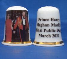 China Thimble - Prince Harry and Meghan Final Public Duty -  Free Box