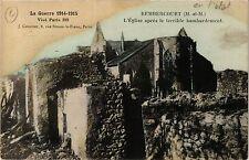 CPA   La Guerre 1914-1915 - Rembercourt (M.-et-M.) -L'Église aprés le.. (432206)
