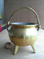 antique Bronze Couldron Grape kettle Cooking pot 17th century European Dutch