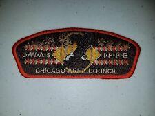 Boy Scout Chicago Area Council Camp Owasippe Orange Border CSP/SAP