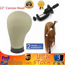 "22"" Canvas Cork Block Head Wig Making Mannequin Hat Cap Display Model Stand"