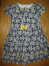 NWT Gymboree Flower Shower size 5T Navy Blue Daisy Flower Dress