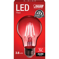 FEIT Electric  Filament  LED Bulb  3.6 watts A-Line  A19  Red