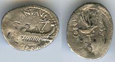 New listing Marc Antony, Legionary Ar Denarius, 32-31 Bc, Patrae Mint. Vf.