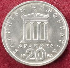 Greece 20 Drachma 1986 (C1610)