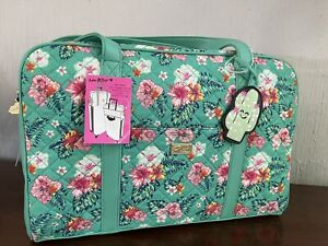 LUV Betsey Johnson Weekender Travel Overnight Bag  Hawaiian Quilted NWT