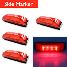 4x Red LED Side Marker Light Indicator Clearance Lamp Lorry Van Trailer Truck
