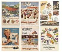 Vintage Howard Johnson Ads Photo-Fridg Magnets
