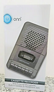 Portable Cassette Recorder w/ External Microphone, Blank Tape, AC Adapter NEW