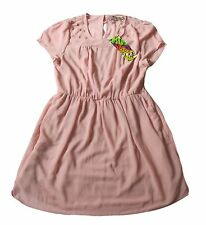 NEW 'Just Addict' BNWT Dusty Pink Short Dress With Stretch Waist - Size L