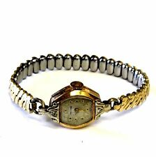 "14k yellow gold Waltham Swiss diamond .02ct VS1 G watch estate vintage 6"" ladies"