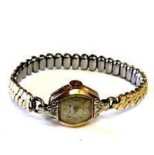 "14k yellow gold Waltham Swiss diamond .02ct VS1 G watch estate vintage 6"" ladies"