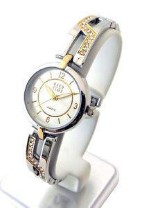 """OSCO * Damen Schmuckband-Uhr """"Night Life"""" Bicolor rund"""