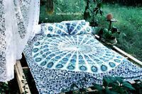 Peacock Mandala Duvet Doona Cover Reversible Indian Quilt Cover With Pillow Sham