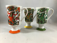3 Royal Crown Arnart Kathy K. Footed Irish Coffee Cup Mug Strawman #3053 * (C2)
