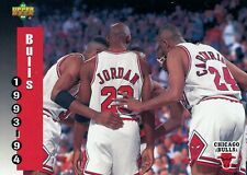 "Michael Jordan and  ""Chicago Bulls"", 1993-94 Upper Deck Basketball Card #213"