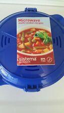 Sistema 2.6 Liter 87.9 oz Microwave Multicooker Blue New Open box.