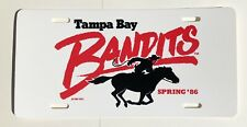 Vintage 1986 Tampa Bay Bandits License Plate Spring 86 USFL 1982 New Old Stock