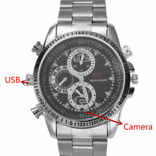 HD Camcorder Waterproof Men Wrist Watch Spy Camera DVR Digital Video Recorder 8G