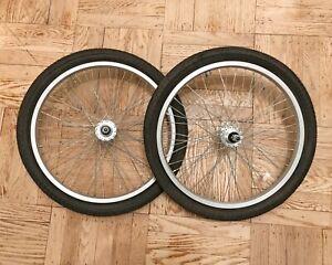 "New Kenda 20"" x 1.95 Front Rear Alloy Bike Bicycle Wheel Tire Bmx Wheelset Tube"