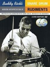 BUDDY RICH MODERN INTERPRETATION OF SNARE RUDIMENTS - BOOK/2 DVD SET 14005289