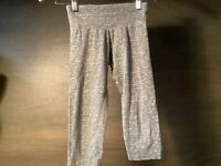 Justice Girl's Gray Workout Exercise Capri's Size 10 COTTON ELASTINE