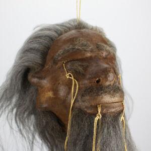 Replik! Schrumpfkopf Spiegelanhänger Shrunken Head Tsantsa Ecuador Jivaro Deko