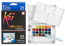 Sakura Koi Watercolor - Pocket Field Sketch Box - 24 Half Pan Transparent Colors