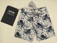 New w Tags & Bag Authentic Vilebrequin Ocean Swim Trunks Blue & White for Men S