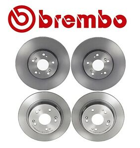 Brembo Front and Rear UV Coated Brake Disc Rotors Kit For Acura TSX Honda Accord