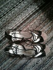 High heels stiletto open toe sandals slightly used color black size 8