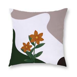 """18"""" Pillow Case Cactus Short Plush Waist Throw Cushion Cover Home Sofa Car Decor"""